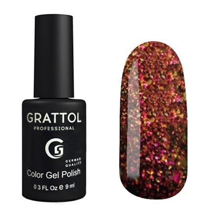 Гель-лак Grattol Хамелеон GTG004 Galaxy Copper, 9мл