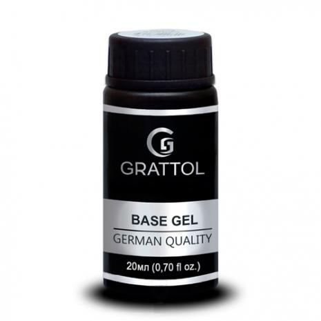 ( 20 мл ) База Каучуковая Гипоаллергенная гель-лака Grattol IQ Rubber Base Gel