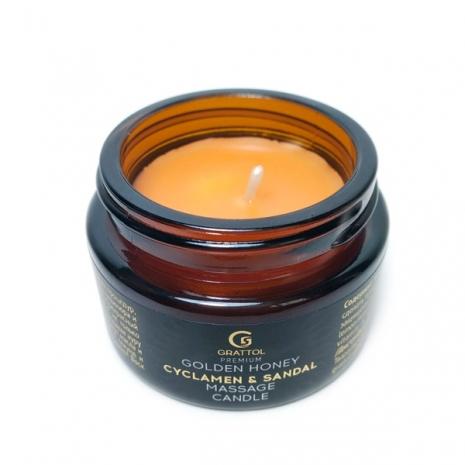 ( 30 мл ) Свеча Массажная Сyclamen & Sandal Grattol Premium Massage Candle