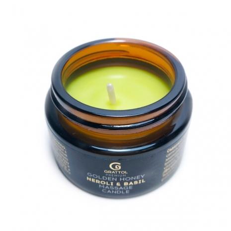 ( 30 мл ) Свеча Массажная Candle Neroli & Вasil Grattol Premium Massage