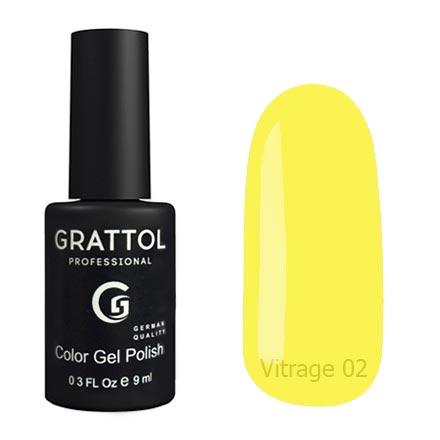 Гель-лак витражный Grattol Color Gel Polish Vitrage 02, 9 мл