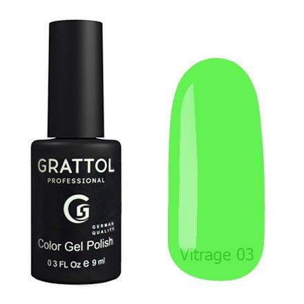 Гель-лак витражный Grattol Color Gel Polish Vitrage 03, 9 мл