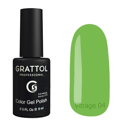 Гель-лак витражный Grattol Color Gel Polish Vitrage 04, 9 мл
