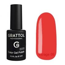 Гель-лак витражный Grattol Color Gel Polish Vitrage 08, 9 мл