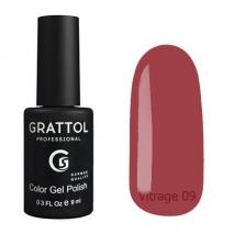 Гель-лак витражный Grattol Color Gel Polish Vitrage 09, 9 мл