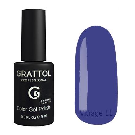 Гель-лак витражный Grattol Color Gel Polish Vitrage 11, 9 мл