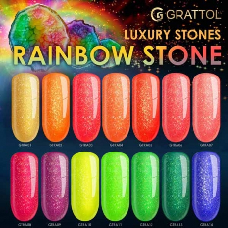 Гель-лак Grattol LS Rainbow 08, 9 мл