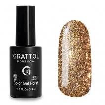 Гель-лак Светоотражающий Grattol Color Gel Polish Bright Cristal 01, 9 мл
