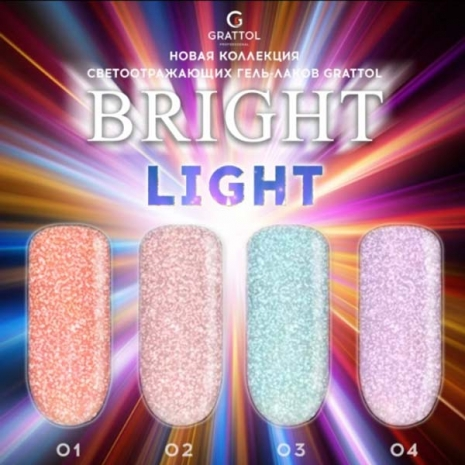 Гель-лак Светоотражающий Grattol Color Gel Polish Bright Light 02, 9 мл
