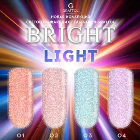 Гель-лак Светоотражающий Grattol Color Gel Polish Bright Light 03, 9 мл