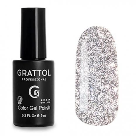 Гель-лак Светоотражающий Grattol Color Gel Polish Bright Silver, 9 мл