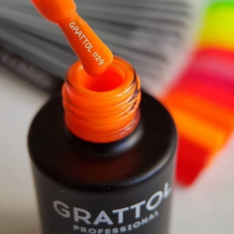 Гель-лак Grattol GTC029 Orange Red, 9мл