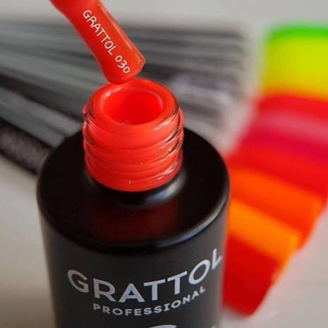Гель-лак Grattol GTC030 Bright Red, 9мл