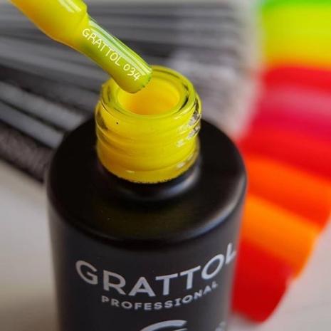 Гель-лак Grattol GTC034 Yellow, 9мл