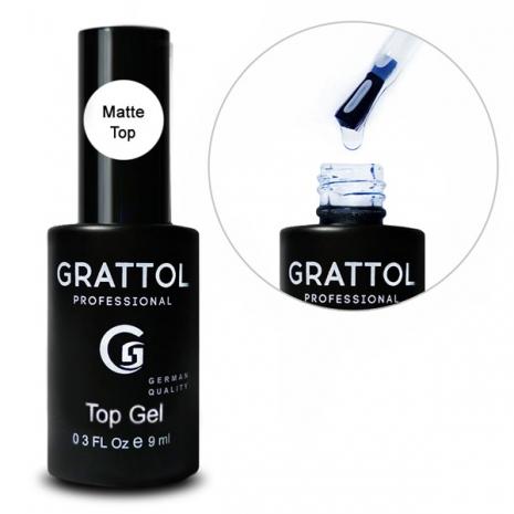 ( 9 мл ) Топ Матовый для гель-лака Grattol Matte Top Gel