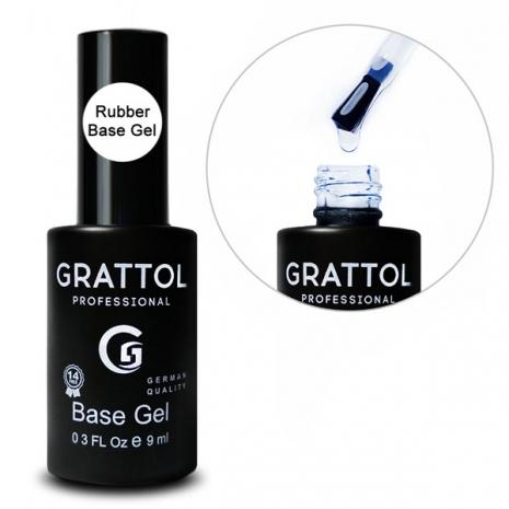 ( 9 мл ) База Каучуковая для гель-лака Grattol Rubber Base Gel