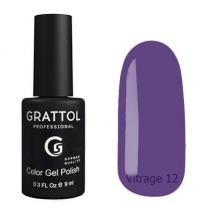 Гель-лак витражный Grattol Color Gel Polish Vitrage 12
